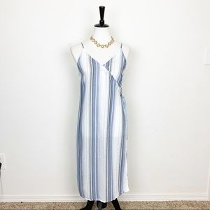 Anthropologie Striped Sheer Long Tunic Size Small